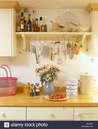 storage jars shelving in kitchen stock photos u0026 storage jars