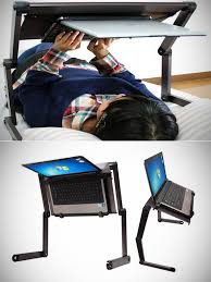 lay down computer desk laptop bed stand and 16 more gadgets accessories for geeks who love