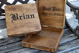 Engraved Groomsmen Gifts Amazon Com Personalized Cigar Box Wedding Groomsman Gift