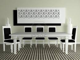 White Contemporary Dining Room Sets Del - Black and white contemporary dining table