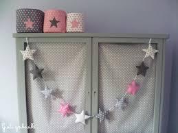 decoration etoile chambre guirlande 10 étoiles gris blanc étoilé décoration pour