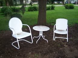 Antique Metal Patio Chairs Lawn Make Mine Eclectic