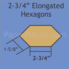 elongated hexagon template google search quilts epp