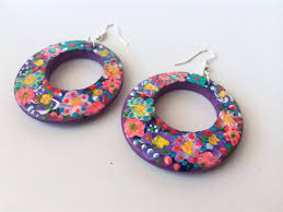 frida earrings frida kahlo free shipping colourful flowers painted earrings