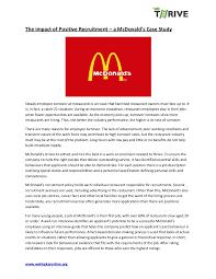 mcdonalds job description resume mc donalds recruitment case study