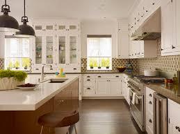 small l shaped kitchen design with tile backsplash and laminate