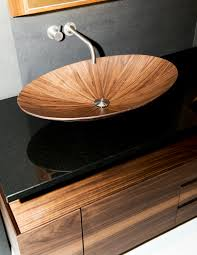 Alegna Bathtubs by Countertop Washbasin Round Wooden Contemporary Alegna