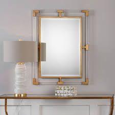 Gold Home Decor Accessories Balkan Modern Gold Wall Mirror Uttermost Wall Mirror Mirrors Home