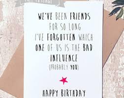 birthday card friend etsy