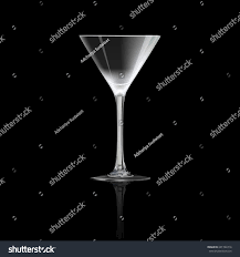 martini glass vector cocktail glass isolated on black background stock vector 601746716