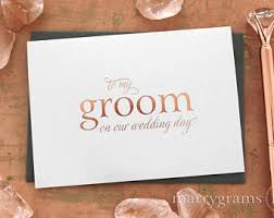wedding card from groom to groom to card etsy