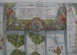 road map of york york to whitby and scarborough antique road map by ogilby