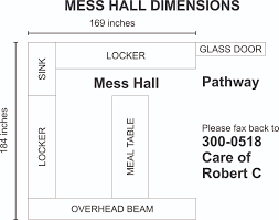 mess dimensions at the paper tree in sta