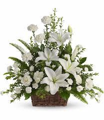 white lilies s flower shop peace white lilies sympathy atlanta