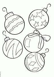 christmas ornaments coloring pages printable free printable inside