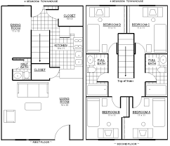 4 bedroom townhouse floor plans ahscgs com house free decorating