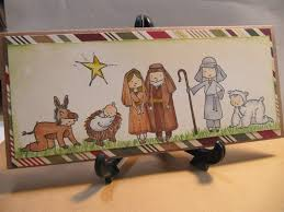 sunshine creations and crafts christmas card 11 nativity scene