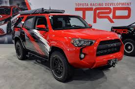 lego toyota 4runner toyota trd pro chase trucks are ready to hit the desert at sema