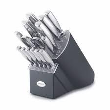 anolon cutlery 15 piece knife set black block stainless steel