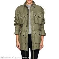 faith connexion embellished cotton field jacket snap flap