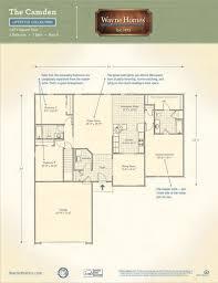 camden floor plan ranch house floor plans the camden wayne homes