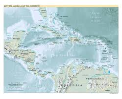 Mexico 1821 Map by Maps Of Central America And The Caribbean Central America And The