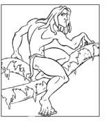 tarzan apes coloring pages free coloring pages
