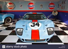 gulf gt40 a le mans gulf ford gt40 garage recreation at the 2009 goodwood