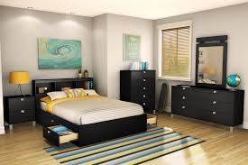 Small Bedroom Dresser With Mirror Furniture Black Wooden Platform Bed With Storage And Tblae Lamp