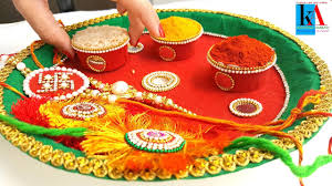 Decorations For Diwali At Home How To Make 2 Colours Decorated Pooja Thali Simple And Easy