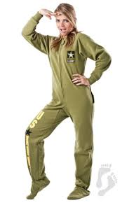 u s army footed pjs u s army footed pajamas one
