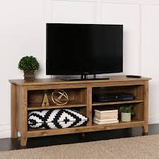 Furniture Design Of Tv Cabinet Amazon Com New 58 Inch Wide Barnwood Finish Television Stand