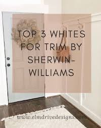 what is the most popular white for trim top 3 whites for trim by sherwin williams