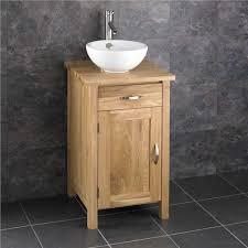 square bathroom cabinet solid oak furniture round sink bowl vanity