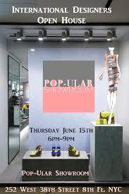 Showroom Invitation Card International Designers Open House At Pop Ular Showroom Deg