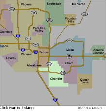 map of chandler az chandler area map and surrounding cities