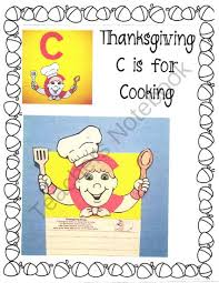 thanksgiving c is for cooking from alphabet from wendys