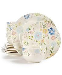 martha stewart collection painter s garden 12 dinnerware set