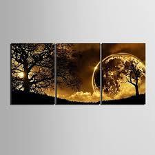 canvas set landscapethree panels vertical print wall decor for