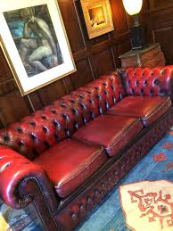 dark red leather sofa stunning antique chesterfield sofa dark red three seater shabby