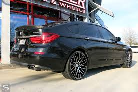 custom black bmw 5 series savini wheels