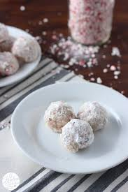 peppermint crunch snowball cookies a kitchen addiction