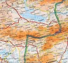 Geographical Map Kazakhstan Geographical Map Gizi Map U2013 Mapscompany