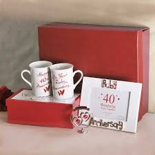 40th anniversary gift chic ruby wedding gift ideas wedding anniversary gifts unique 40th