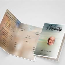 general card funeral program template funeral templates