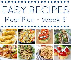 the easy dinner recipes meal plan week 3 domestic superhero