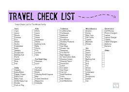 a family travel check list http mamato5blessings 2014 04