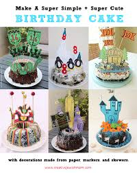 birthday cake decorations make simple and birthday cake decorations from paper