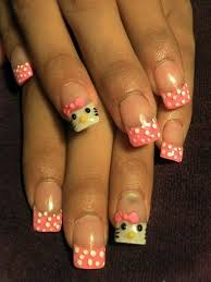 33 best hello kitty nails images on pinterest hello kitty nails
