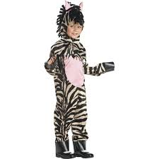 Childrens Animal Halloween Costumes by Amazon Com Child U0027s Toddler Zebra Halloween Costume 2 4t Clothing
